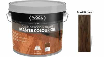 Alyva medinėms grindims Woca Master Colour Oil Brazil Brown
