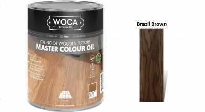 Alyva medinėms grindims Woca Master Colour Oil Brazil Brown, 1