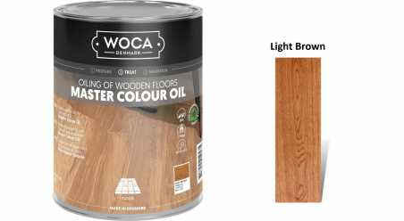 Alyva medinėms grindims Woca Master Colour Oil Light Brown, 1 L