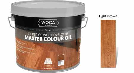 Alyva medinėms grindims Woca Master Colour Oil Light Brown, 2,5 L