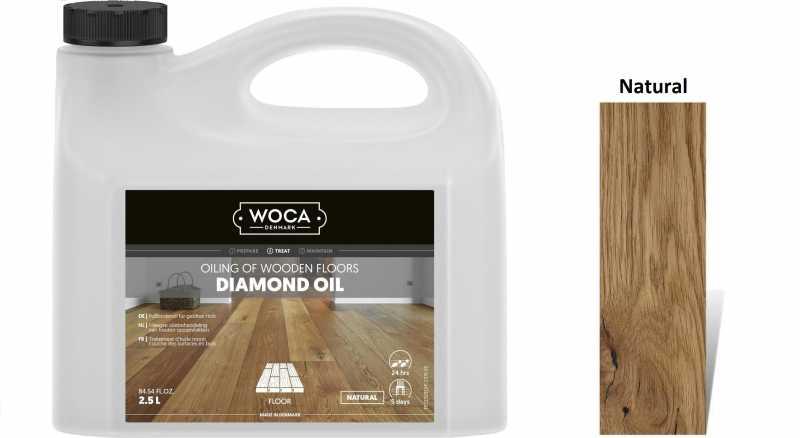 Alyva medinėms grindims Woca Daimond Oil Natural, 2,5 L
