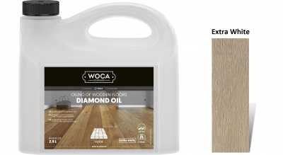Alyva medinėms grindims Woca Daimond Oil Extra White, 2,5 L