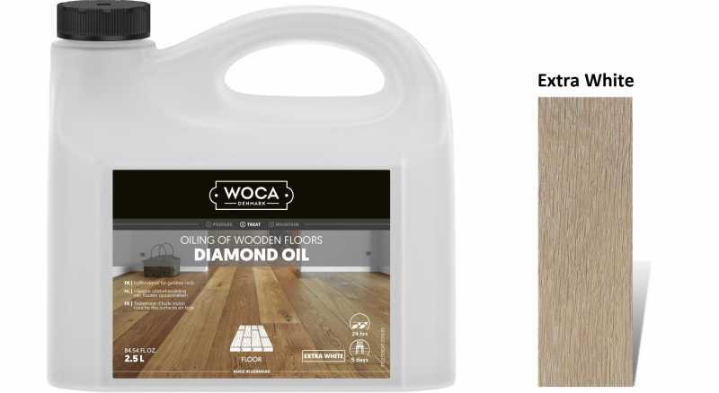 Alyva medinėms grindims Woca Daimond Oil Extra White, 2,5 L