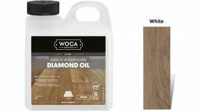 Alyva medinėms grindims Woca Daimond Oil White, 1 L nuotrauka