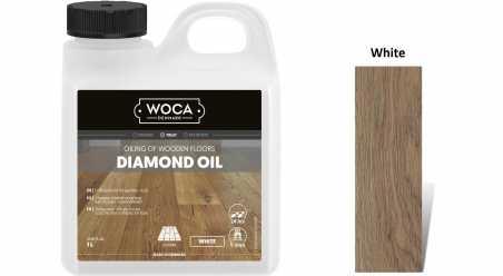 Alyva medinėms grindims Woca Daimond Oil White, 1 L
