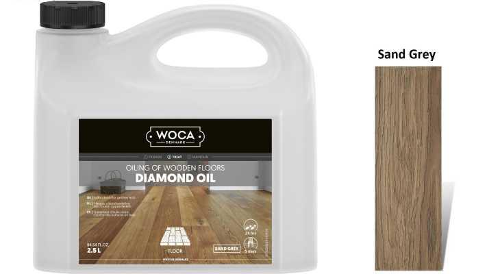 Alyva medinėms grindims Woca Daimond Oil Sand Grey, 2,5 L