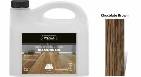 Alyva medinėms grindims Woca Daimond Oil Chocolate Brown, 2,5 L