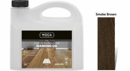 Alyva medinėms grindims Woca Daimond Oil Smoke Brown, 2,5 L