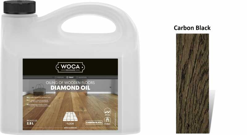 Alyva medinėms grindims Woca Daimond Oil Carbon Black, 2,5 L