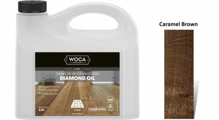Alyva medinėms grindims Woca Daimond Oil Caramel Brown, 2,5 L