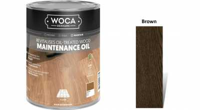 Alyva medinėms grindims Woca Maintenance Oil Brown, 1 L