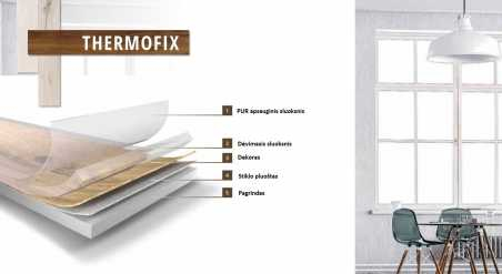 Vinilo danga Fatra Thermofix Wood Uosis Brown 2,5 MM nuotrauka