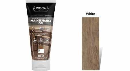 Pasta medinėms grindims Woca Maintenance Gel White, 0,2 L