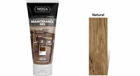 Pasta medinėms grindims Woca Maintenance Gel Natural, 0,2 L