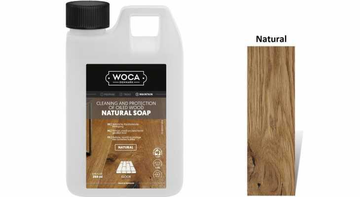 Muilas medinėms grindims Woca Natural Soap, 0,25 L