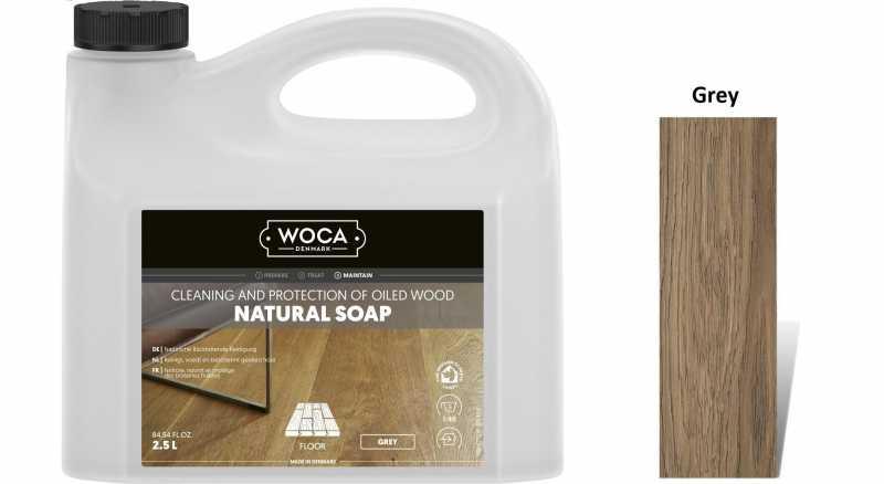Muilas medinėms grindims Woca Natural Soap Grey, 2,5 L nuotrauka