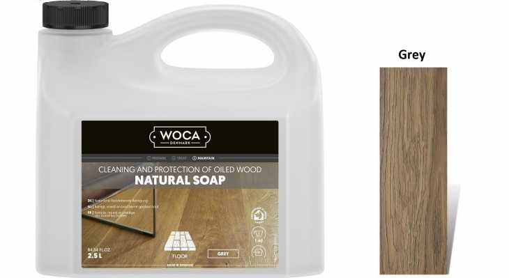Muilas medinėms grindims Woca Natural Soap Grey, 2,5 L