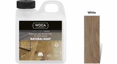 Muilas medinėms grindims Woca Natural Soap White, 1 L nuotrauka