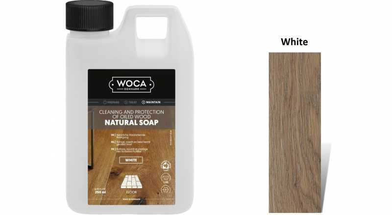 Muilas medinėms grindims Woca Natural Soap White, 0,25 L