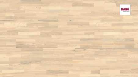 Trisluoksnė parketlentė Haro Longstrip Uosis Sand White Favorite