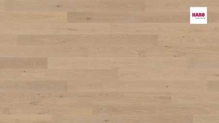 Trisluoksnė parketlentė Haro Plank Ąžuolas Creme White Markant 4V