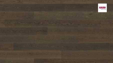 Trisluoksnė parketlentė Haro Plank Ąžuolas Reed Brown Markant 4V