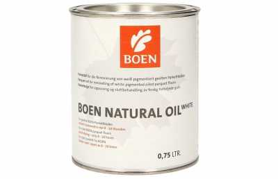 Alyva medinėms grindims Boen Natural Oil White, 0.75 L