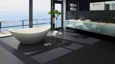 Vinilo danga One Flor ECOCLICK 30 TILES Loft Black 2 MM