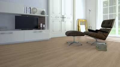 Vinilo danga One Flor ECOCLICK 30 PLANKS Ąžuolas Classic Light Brown 4 MM