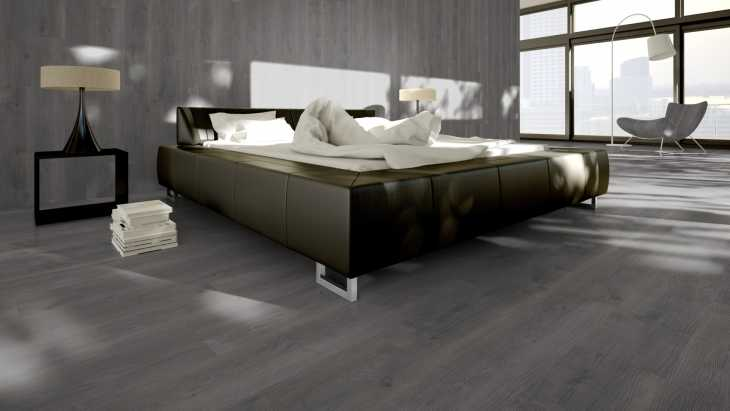 Vinilo danga One Flor ECO 30 PLANKS Ąžuolas River Dark Grey 2 MM