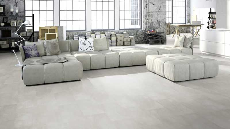 Vinilo danga One Flor ECOCLICK 30 TILES Cement Pearl 4 MM