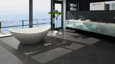 Vinilo danga One Flor ECO 30 TILES XLCement Charcoal 2 MM