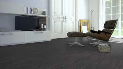 Vinilo danga One Flor ECOCLICK 55 TILES Concrete Black 5 MM