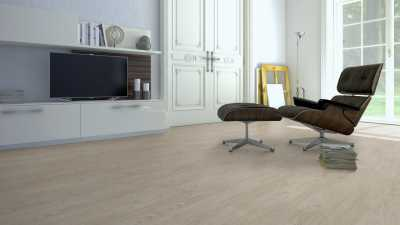 Vinilo danga One Flor ECOCLICK 55 PLANKS Pušis Rustic White 5 MM
