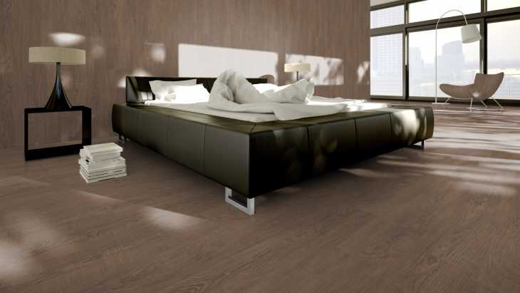 Vinilo danga One Flor ECOCLICK 55 PLANKS Pušis Rustic Brown 5 MM