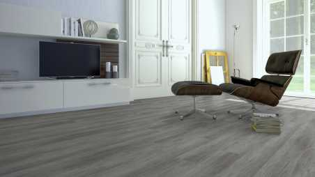 Vinilo danga One Flor ECOCLICK 55 PLANKS Ąžuolas Mountain Grey 5 MM