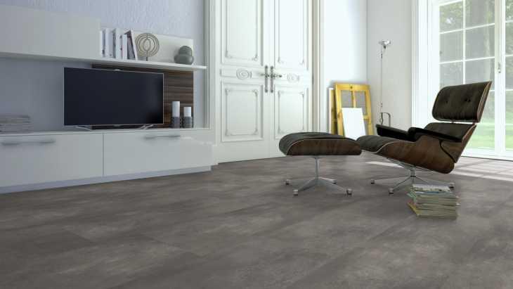 Vinilo danga One Flor ECOCLICK 55 TILES XL Cement Natural 5 MM