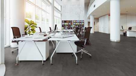 Vinilo danga One Flor SOLIDECLICK 30 TILES Origin Concrete Dark Grey 4.5 MM