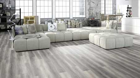 Vinilo danga One Flor SOLIDECLICK 30 Planks Ąžuolas Pure Grey 4.5 MM