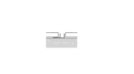 Grindų jungimo profilio bazė 7-10mm, 2,7 m