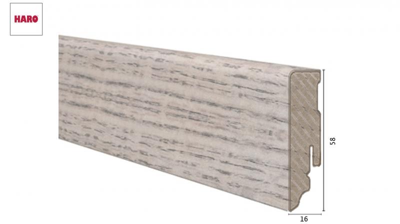 Laminuota grindjuostė Haro Ąžuolas Alpine Grey 16*58 MM