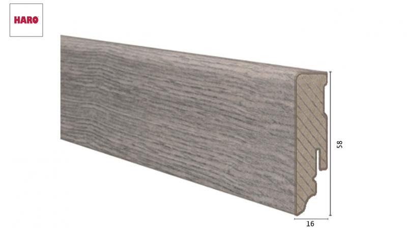 Laminuota grindjuostė Haro Ąžuolas Bergamo Carbon16*58 MM