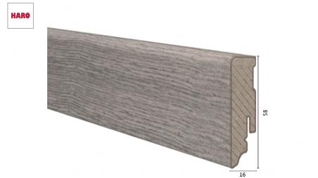 Laminuota grindjuostė Haro Ąžuolas Antique Grey 16*58 MM