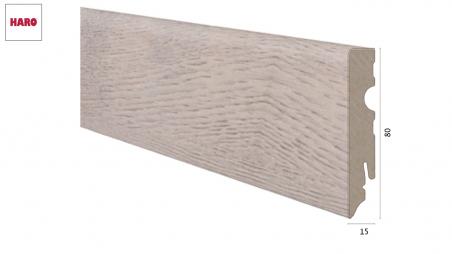Laminuota grindjuostė Haro Ąžuolas Bergamo Antique White 15*80 MM