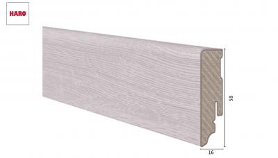 Laminuota grindjuostė Haro Ąžuolas Bergamo Silver Grey 16*58 MM