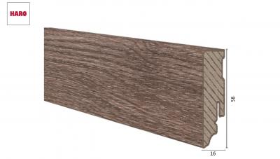 Laminuota grindjuostė Haro Ąžuolas Corona 16*58 MM