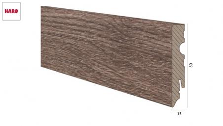 Laminuota grindjuostė Haro Ąžuolas Corona 15*80 MM