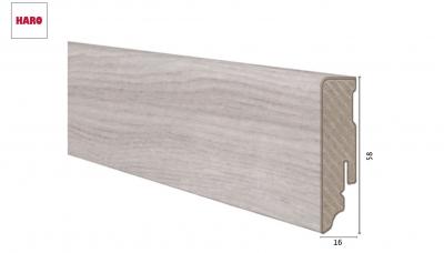 Laminuota grindjuostė Haro Ąžuolas Emilia Light Grey 16*58 MM