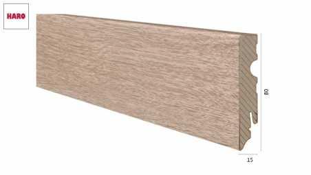 Medinė laminuota grindjuostė Haro Ąžuolas Emilia Puro 15*80 MM