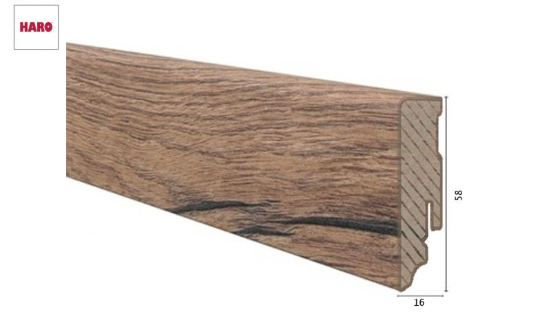 Laminuota grindjuostė Haro Ąžuolas Italica Nature 16*58 MM